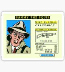 Crackshot With Tommy Gun Sticker
