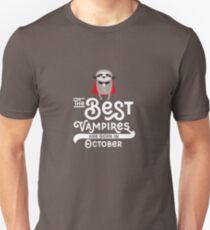Sloth Vampire born in October chilling-Design T-Shirt