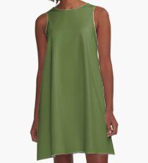 color dark olive green  A-Line Dress