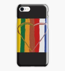 Heart colours iPhone Case/Skin