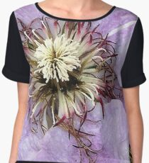 Romantic Clematis Chiffon Top