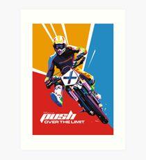 Motocross - Push Over The Limit #2 Art Print