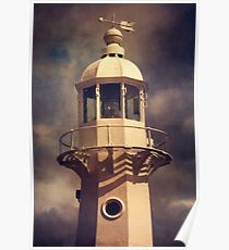 Mevagissey lighthouse Poster
