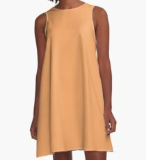 color sandy brown A-Line Dress