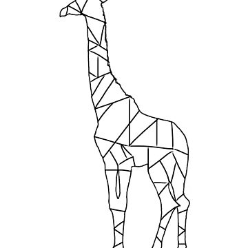 Giraffe Line Drawing  by MrPeterRossiter