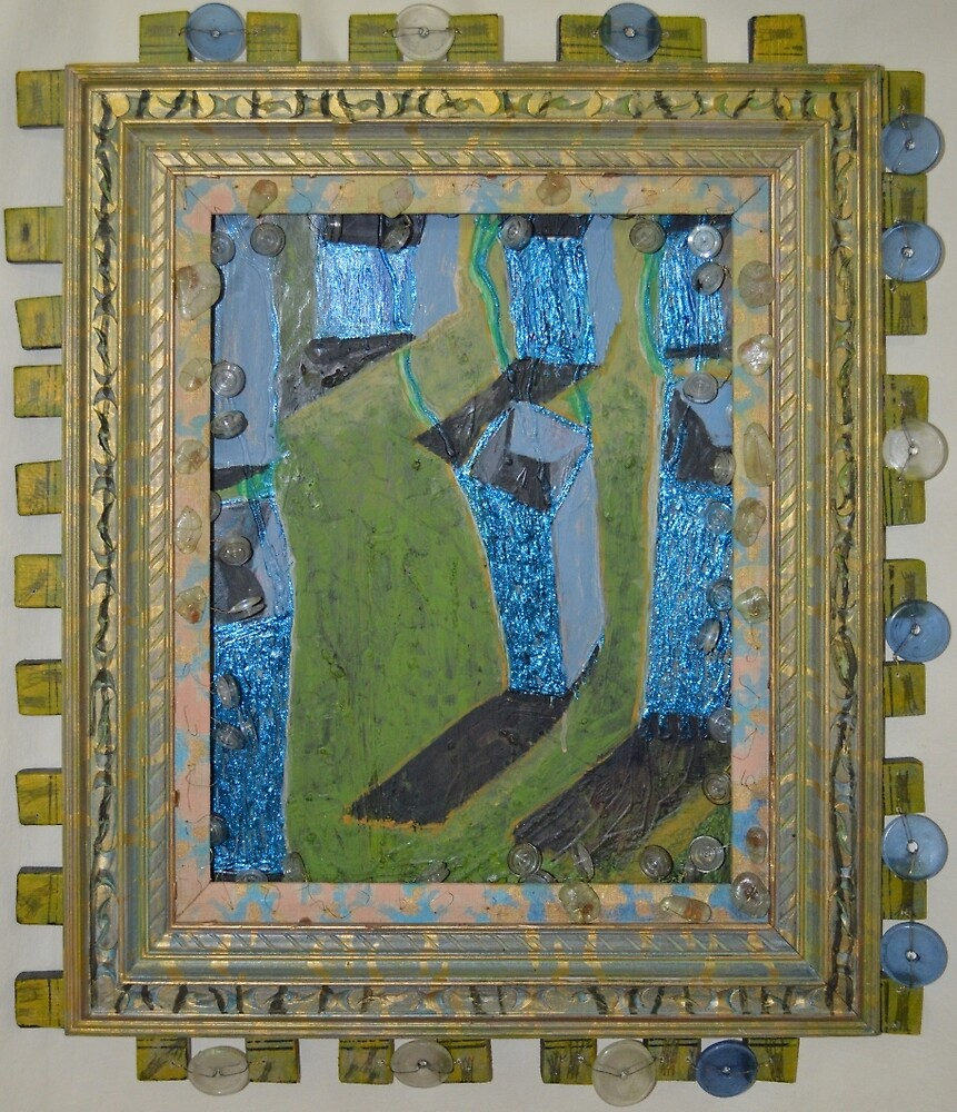 Orchard Of Frog Boxes - Framed Abstract by Nancy Mauerman