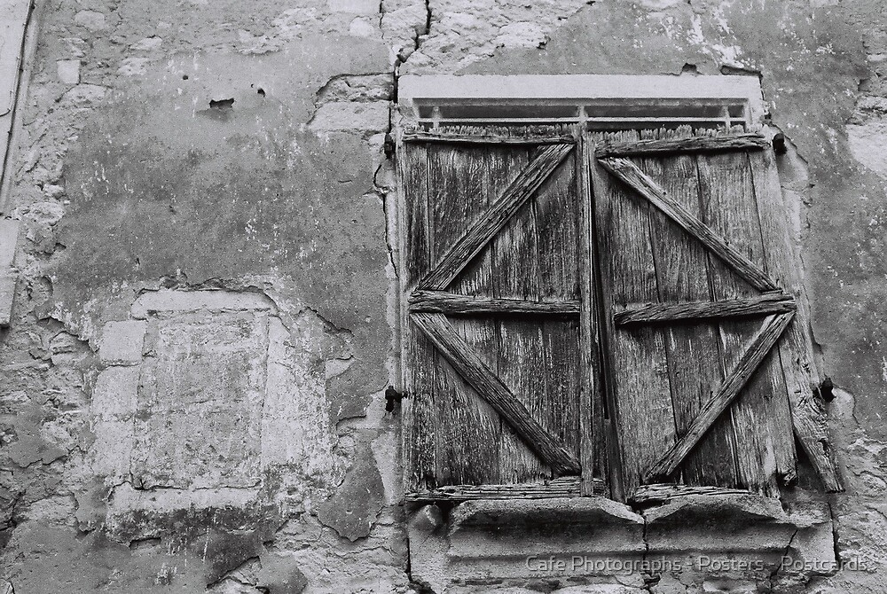Old Doors, St Emilion by Cafe Photographs - Posters - Postcards