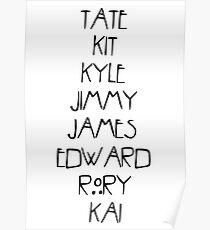 Evan Peters AHS Characters Poster