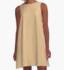 color burlywood A-Line Dress