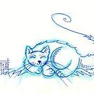 Sleepy Miau by nightsparklies
