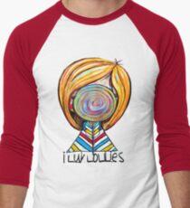 I LUV LOLLIES! Men's Baseball ¾ T-Shirt