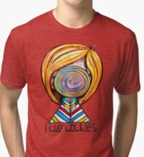 I LUV LOLLIES! Tri-blend T-Shirt