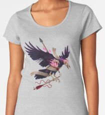 The Undead Crow - Magic Fire Women's Premium T-Shirt