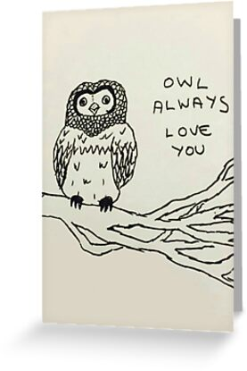 Val day always owl greeting cards by nanaverse redbubble val day always owl by nanaverse m4hsunfo