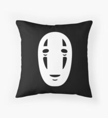 no face (from spirited away) Throw Pillow