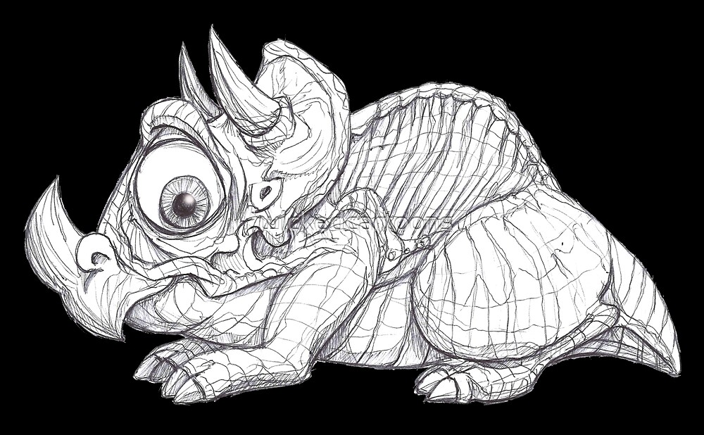 Triceratops by wickedcartoons