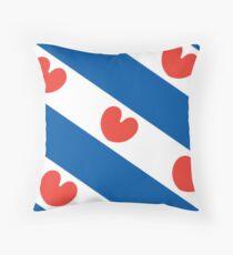 Flag of Friesland Throw Pillow