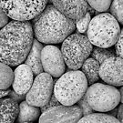 I Love Stones II Black and White by Kathilee