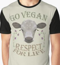 GO VEGAN - RESPECT FOR LIFE Graphic T-Shirt