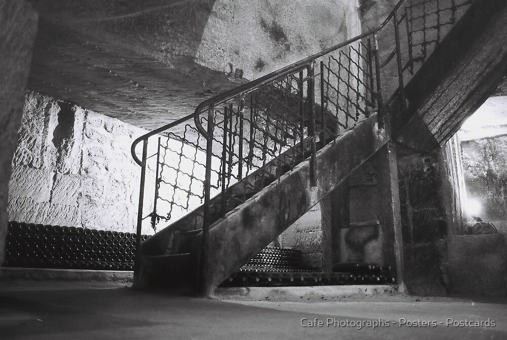 The Caves, St Emilion by Cafe Photographs - Posters - Postcards