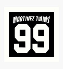 martinez twins - Smith uses persona, police reports, news clippings Art Print