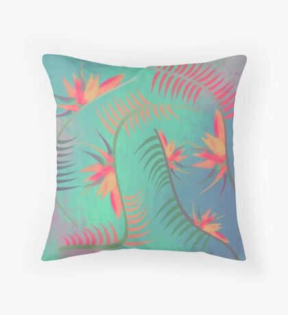 Natures Colorful Flow Throw Pillow