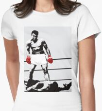 e87d326d Muhammad Ali vs Sonny Liston Fitted T-Shirt