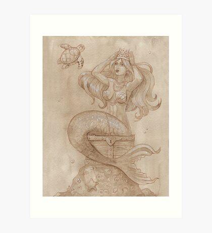 Mermaid's Treasure Art Print