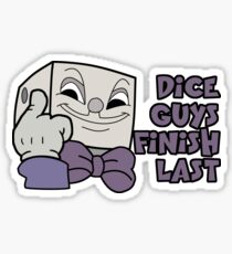 Dice Guys Finish Last - Cuphead Sticker