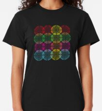 Intersecting circles - Colorful - Striped - Doppler effect Classic T-Shirt