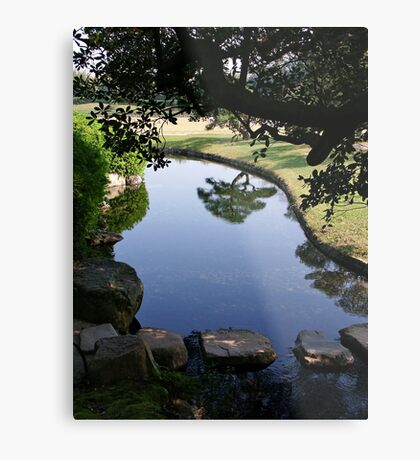 Okayama Korakuen Garden Reflection Metal Print