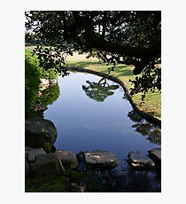 Okayama Korakuen Garden Reflection Photographic Print