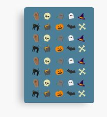 Halloween Icons Canvas Print