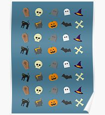 Halloween Icons Poster