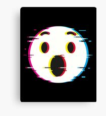 flat icon_astonished Canvas Print