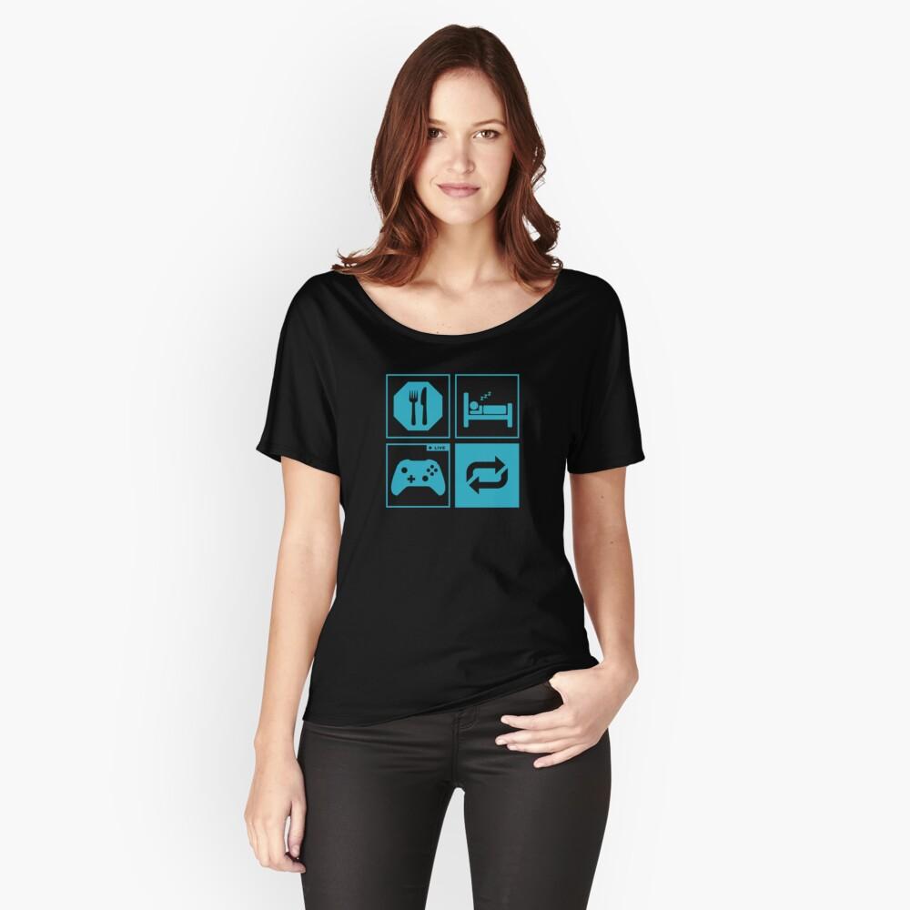 Essen, schlafen, Spiel, wiederholen. Loose Fit T-Shirt