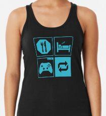 Camiseta con espalda nadadora Comer, dormir, jugar, repetir.
