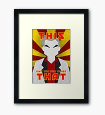 "Pokemon - Professor Oak: ""This isn't the time to use that!"" Framed Print"
