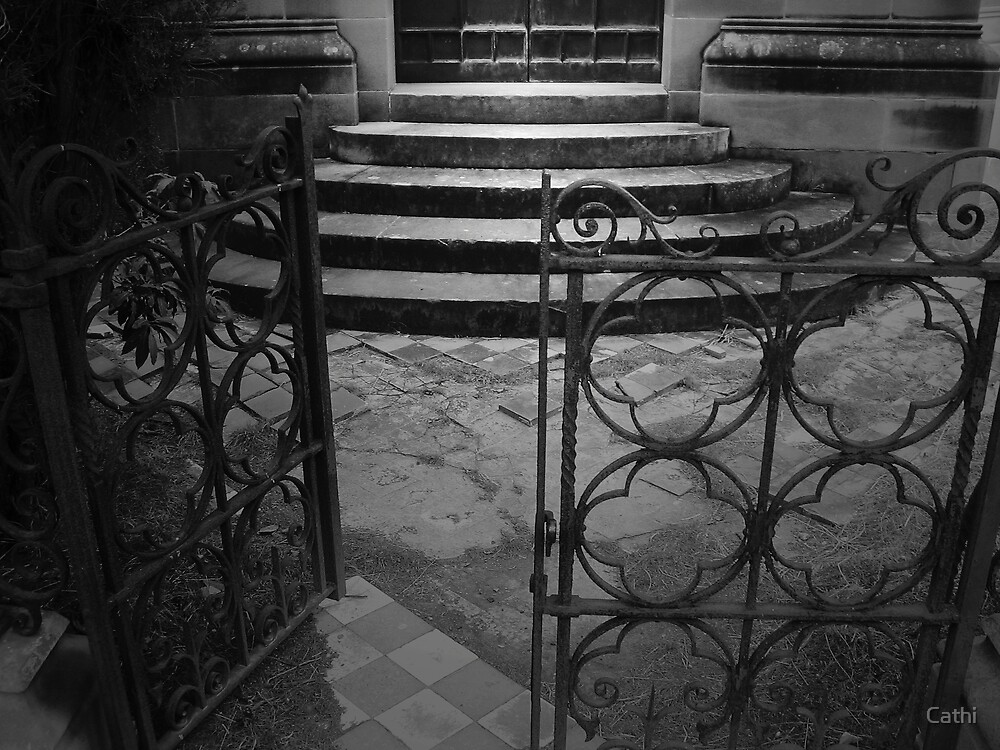 Gates to the Mausoleum by Cathi Norman