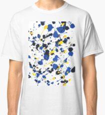 YELLOW BLUE SPATTER portrait Classic T-Shirt