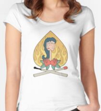 burning love Women's Fitted Scoop T-Shirt