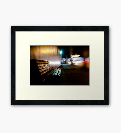 bench@night Framed Print