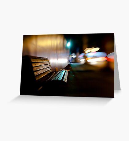 bench@night Greeting Card