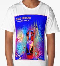 ABU DHABI : Abstract Grand Prix Auto Advertising Print Long T-Shirt