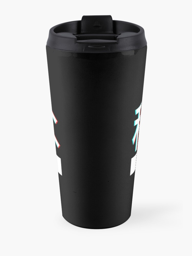 "Alternate view of Aesthetic Japanese ""THICC"" Logo Travel Mug"