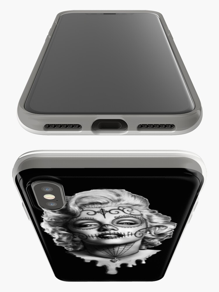 Alternate view of Marilyn Monroe Sugar Skull iPhone Case & Cover