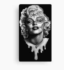 Marilyn Monroe Sugar Skull Canvas Print