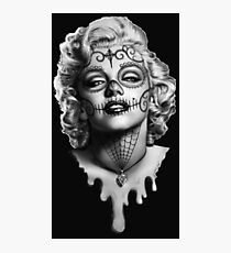 Marilyn Monroe Sugar Skull Photographic Print