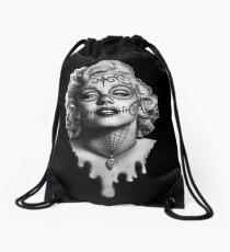 Marilyn Monroe Sugar Skull Drawstring Bag