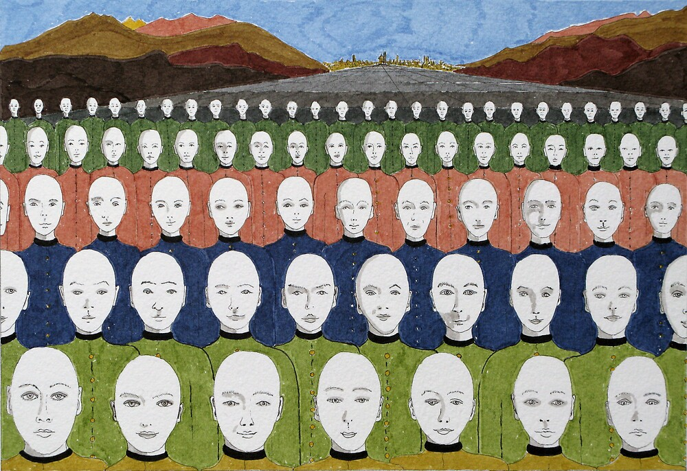 76 Heads by Mike Paget